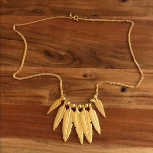 Gold Rebecca Minkoff Feather Necklace